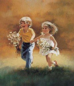 painting-boygirlwithdaisiesrunning