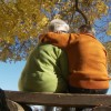 stock-footage-back-view-of-senior-couple-sitting-on-park-bench-under-trees-in-autumn