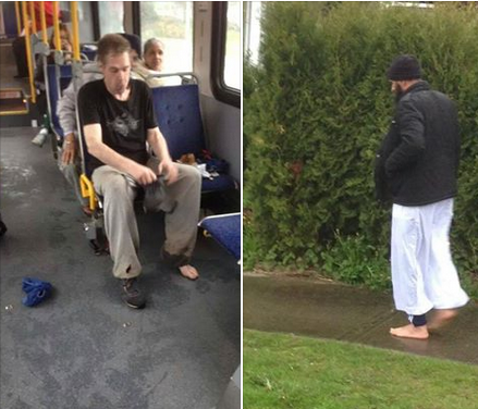 Selfless Muslim Man Gives Barefoot Bus Passenger His Shoes Saying I Live Close I Can Walk PICTURE